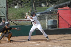 Michael Conners up to bat.