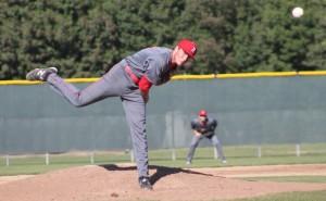Parker Laret deals from the mound